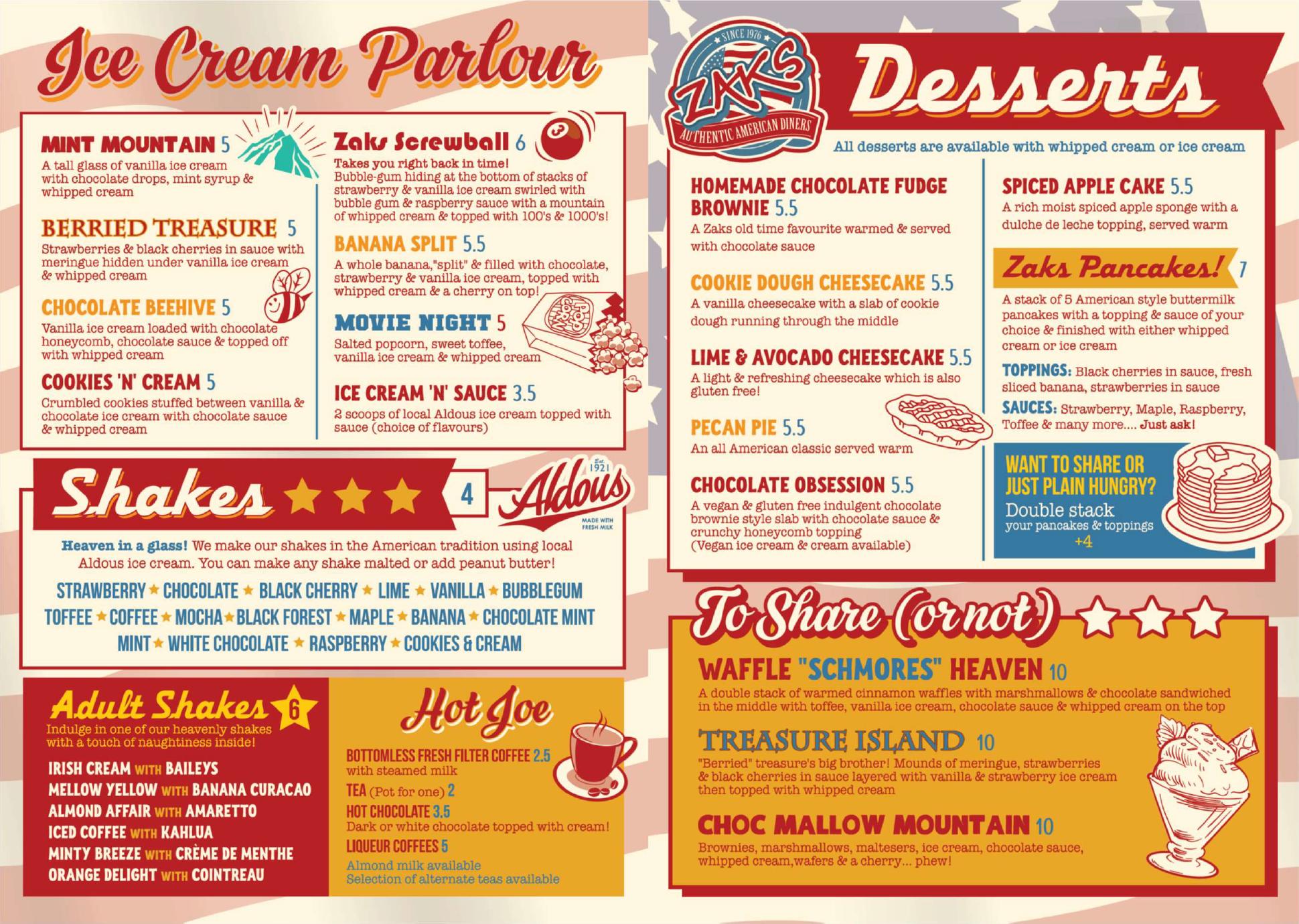 Desserts, Shakes & Ice Cream Parlour